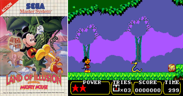 Play Mickey Mouse Land Of Illusion On Master System