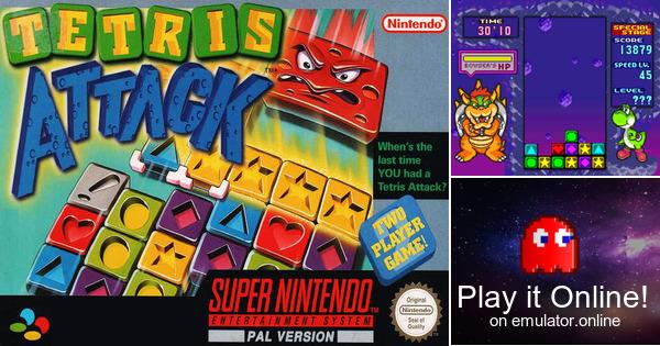 Super Nintendo World >> Play Tetris Attack on Super Nintendo